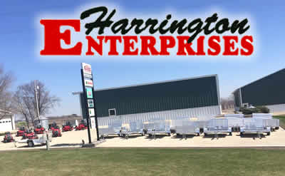 Harrington Enterprises, Lawn and Garden, Trailers, Farm Equipment, Lawn Mowers, Zero Turn, Parts, Service, Country Clipper, Snapper, Shindaiwa, Simplicity, Midsota, Briggs and Stratton, Gold Country Seed, Baldwin Filters, Parker, Interstate Batteries, BCS America, aluma, Kohler Engines, Archer Lubricants, Kawaskaki Engines, Farm King, Joy Stick Steering, Cutting Decks, Commercial, Residential, 360 degree turning, ZTR Mower, Aluminum Trailers, No rust, Shortline, Minnesota, Iowa, Highway 63, Racine, Le Roy, Ostrander, Lime Springs, Chester, Cresco, Spring Valley, Stewartville, Preston, Harmony, Decorah, Protivin, Calmar, Riceville, New Haven, Adams, St. Ansgar, Austin, New Hampton, Lanesboro, Fountain, Chatfield, Wykoff, contractors, schools, business, maintenance, landscape, outdoor living, grass, weeds, Fillmore County, Howard County, Fisks, Walmart, John Deere, Tractor Supply, Hammell Equipment, M&M Lawn & Leasure, Rushford, Cresco Small Engine, Riding Mower, Mower Trailer, Equipment Trailer, Sit On, Drivable, SEMA, Usgaard Smith, Family Owned, Experienced, Quality, Trusted, Reliable, Chad, Camri, Dealer