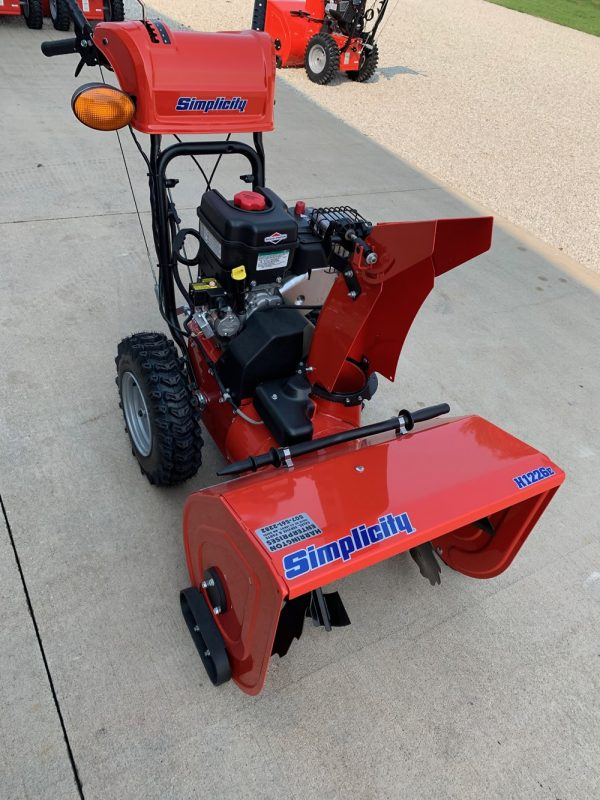 Simplicity H1226E 2-stage Snowblower at Harrington Enterprises